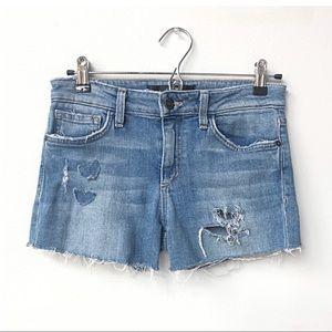 Joe's High Rise Cut Off Distressed Jean Shorts
